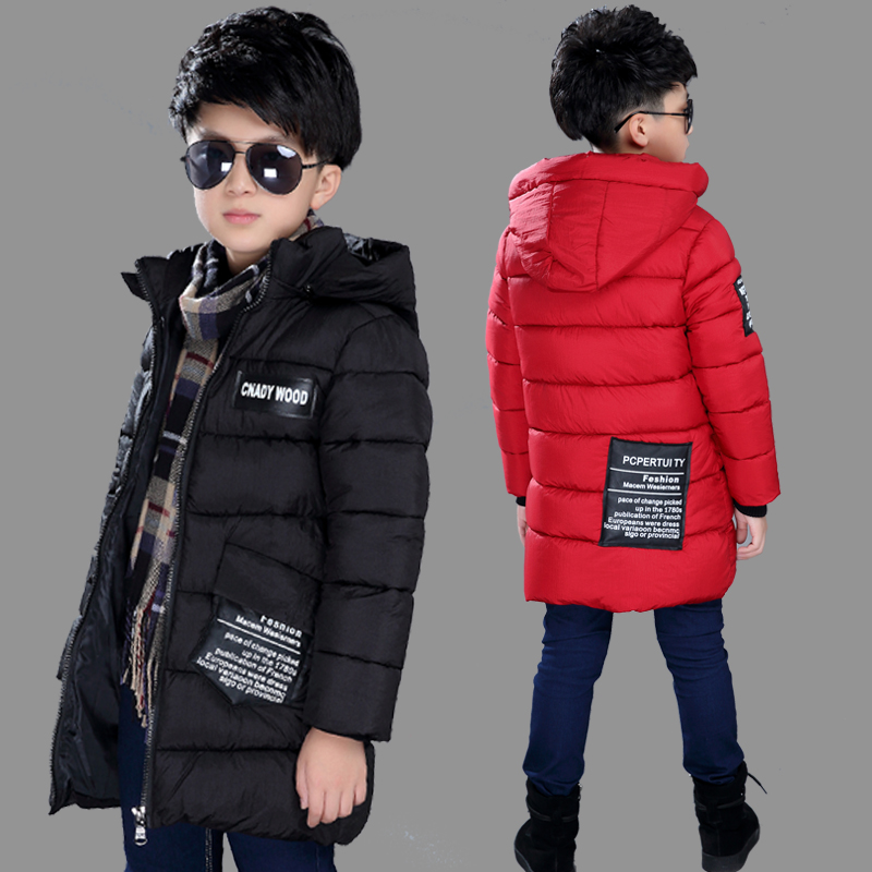 Childrens clothing 2017 cold winter child wadded jacket medium-long outerwear boy cotton-padded solid jacket thickening coatОдежда и ак�е��уары<br><br><br>Aliexpress