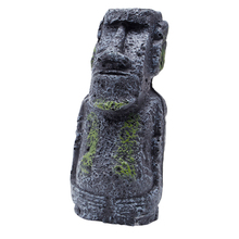 Easter Island Mini Statue Accessory Pipe Fish Tank Aquarium Decoration Ornament