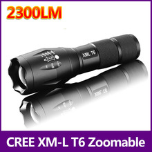 Big Promotion Ultra Bright CREE XML T6 LED Flashlight 5 Modes 2300 Lumens Zoomable LED Torch Free shipping 93(China)