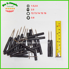 100pcs/lot Mini Screwdriver Slotted 2.0 Phillips 1.5 2.0 Torx T2 T3 T4 T5 T6 Star 0.8 Screwdriver for Cell Phone Tablet PC(China)
