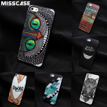 Cute Animal Hard protective phone case For iPhone 5 5S SE 4 4S 5C phone bag case for iphone 6 6s 7 Plus cover case coque fundas