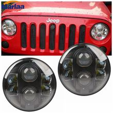 7 inch Round LED Headlight Daymaker Projector Head light 80w Hi/lo Beam Halo Ring DRL For 1997 - 2015 Jeep Wrangler Jk Tj Lj