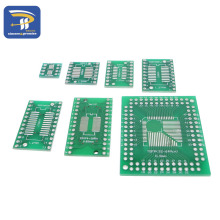 35pcs/lot PCB Board Kit SMD Turn To DIP Adapter Converter Plate QFP FQFP TQFP SOP MSOP SSOP TSSOP 8 14 16 20 24 28 SMT To DIP
