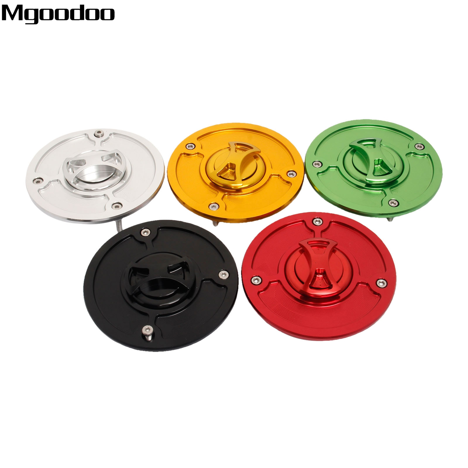 Mgoodoo CNC Aluminum Keyless Fuel Tank Gas Cap Cover + Rubber Seal For KTM DUKE 125 200 250 All Years Motorcycle Accessories New<br>