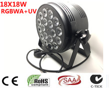 18x18 w 6in1 rgbwa + uv led par luce DJ Par Lattine In lega di Alluminio dmx 512 luce dmx dj wash lighting stage light(China)
