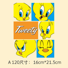 Cartoon small yellow duck heat transfer Offset Tang Hua pattern custom DIY hand clothing patch cloth paste patches