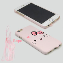 StarTassel Fashion Kitty Cat Matte Case For iphone 6 6s Case For iphone 7 7 PLus Cover Lovely Phone Cases Hard Coque
