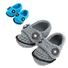 1 Pair High Quality Cute Crochet Casual Baby Handmade Knit Sock Infant Shoes For 0-1 Ages Kids #ES(China)