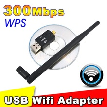300 Mbps USB Wifi Adapter USB 2.0 Wireless 2.4GHz Network Lan Card Antenna For Windows XP/Vista/7 Linux for Mac OS X