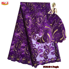 Mr.Z Latest Net French Lace Material High Quality French Net African Lace Fabric With Stone Nigerian Wedding African Lace N10149(China)