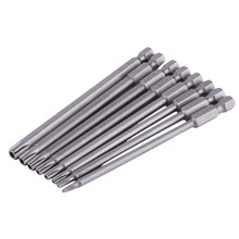 8pcs 100mm Long Steel Magnetic Torx Screwdriver Bit Set Security Electric Screwdrivers Home Tools T8~T40(China)