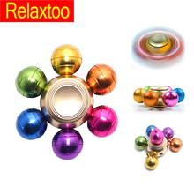 Rainbow Metal Spinner Colorful Fidget DIY Pupa Spinner Alloy Puzzle Finger Hand Gyro EDC Adult Child Kid Ball Toy Gifts