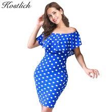Vestidos azules de puntos blancos