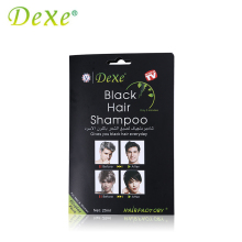 1 Piece Dexe Black Hair Shampoo Hair Color Hair Dye Only 5 Minutes White Become Black Fast Hair Dye 25ml For Men & Women