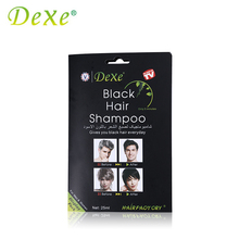 1 Piece Dexe Black Hair Shampoo Hair Color Hair Dye Only 5 Minutes White Become Black Fast Hair Dye 25ml For Men & Women(China)