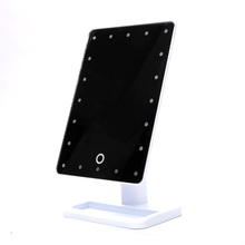 Adjustable 20 LED Light Cosmetic Square Vanity Desk Stand Makeup Mirror ABS Rotatable Touch Screen Make Up Mirror Tool(China)