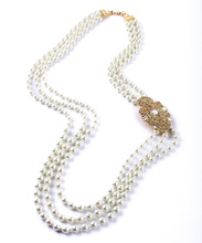 Gold & Silver Color Fashion Women Accessories Special Gift Friendship Delicate Layer Pearl Beads Necklace