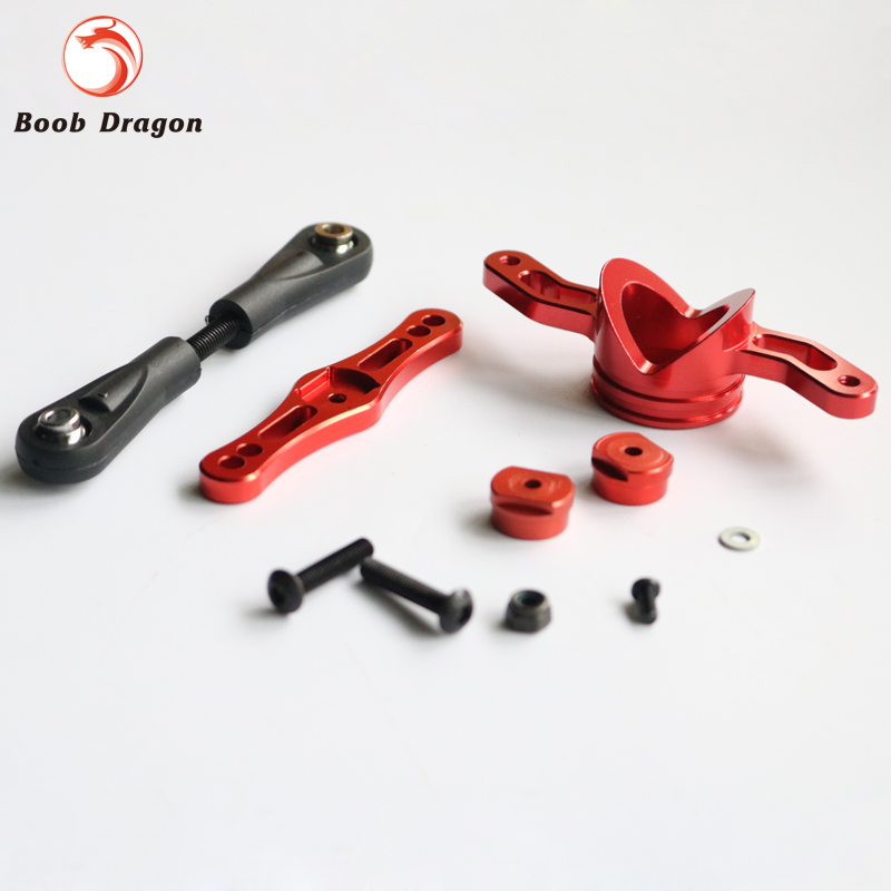 CNC Alloy Stud Steering Arm Steering Set For Losi 5ive T Rovan LT King Motot X2<br>
