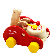 Safe Baby Kid Toy Cubs Beat Drums Toy Early Learning Creative Wooden Educational Toys for Kid Gifts Toy Musical Instrument