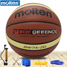 original molten basketball ball GW7xGW6x/GW5x Brand High Quality Genuine Molten PU Material Official Size7/Size 6/5 Basketball(China)