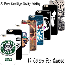 SE 4'' Hard Plastic Back Cover For iPhone SE Cases Case Cell Phone Shell 19 Styles For Choose Print Top Evil Cyborg Supper