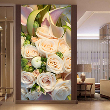 new 3D Diy Diamond Painting Cross Stitch FULL Diamond Embroidery rose picture Diamond Mosaic pattern Rhinestones decoracion