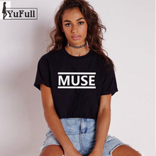 Buy MUSE Letter Print Fashion 2018 Summer Tops Women T-Shirt Black O-Neck slim Short Sleeve Tee Shirt femme Tumblr T shirt Punk Rock for $6.80 in AliExpress store