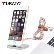 TURATA Metal Charging Base Dock Station Cradle Desktop Docking Charger For Apple iPhone X 7 8 5 SE 5S 6 6S 6 Plus Charger Base(China)