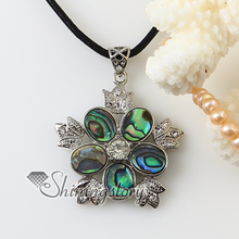 chili pepper flower olive rainbow abalone oyster shell silver plated  rhinestone necklaces pendants 2013 cheap fashion jewelry