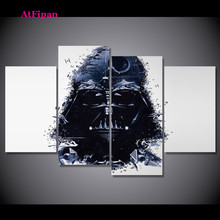 AtFipan ArtUnframed Star Wars Group Canvas Painting Spray Painting Modern Decor Canvas Art Work Prints On The Living Room Poster