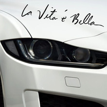 La Vita e Bella Signature Home Wall Stickers Decoration Vinyl DIY Refit Decals Labels Decor Fashion Reflective Paper