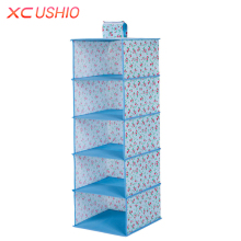 Multilayer Wardrobe Hanging Storage Bag Moistureproof Clothes Toys Storage Organizer Magic Tape Closet Container Box(China)