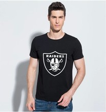 Raiders T-shirt Original Famous Brand 2015 Famous Summer Men t shirts Casual Man's Clothes Tops Designer Tee Short sleeve tshirt