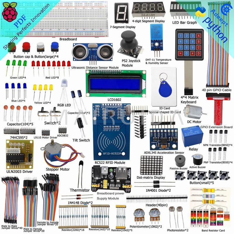 New RFID Raspberry Pi Raspberry Pi B + 2-generation B-type T-GPIO Expansion Kit Intermediate B / B + Python DC Motor<br>