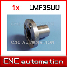 LMF35UU 35mm x 52mm x 70mm Round Flanged Type Linear Bushing Ball Bearing for 35mm rail guide(China)