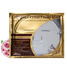 18pcs/lot Anti Aging Pure Natural Collagen Milky Gel Facial Mask White Crystal Face Mask(China)