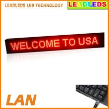 "Single Red 53.5"" X 9.5"" LED Display Outdoor Super Bright Scrolling Message LED Sign Board Commercial Lighting Advertising Lights"