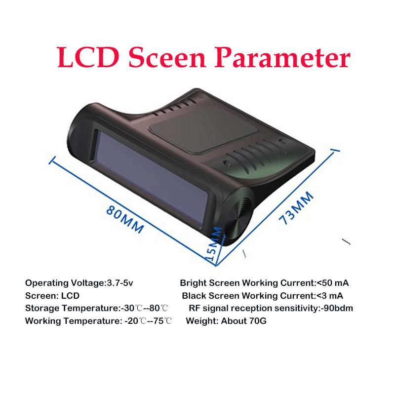 TPMS Solar Wireless Car Tire Pressure Indicator 4 External Sensor Energy Display LCD Screen Car Alarm System 1 (12)