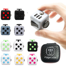 Fidget Stress Cubes Relieves Magic Cube Novetly Puzzle Toy With Storage Box Focus Anti Stress Adult Gifts Toys(China)