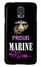 USMC Marine Corps Marines Orgoglioso Mamma Tpu Nero cell phone bags case cover for iphone 4S 5S 5C SE 6S 7 PLUS IPOD Samsung S3