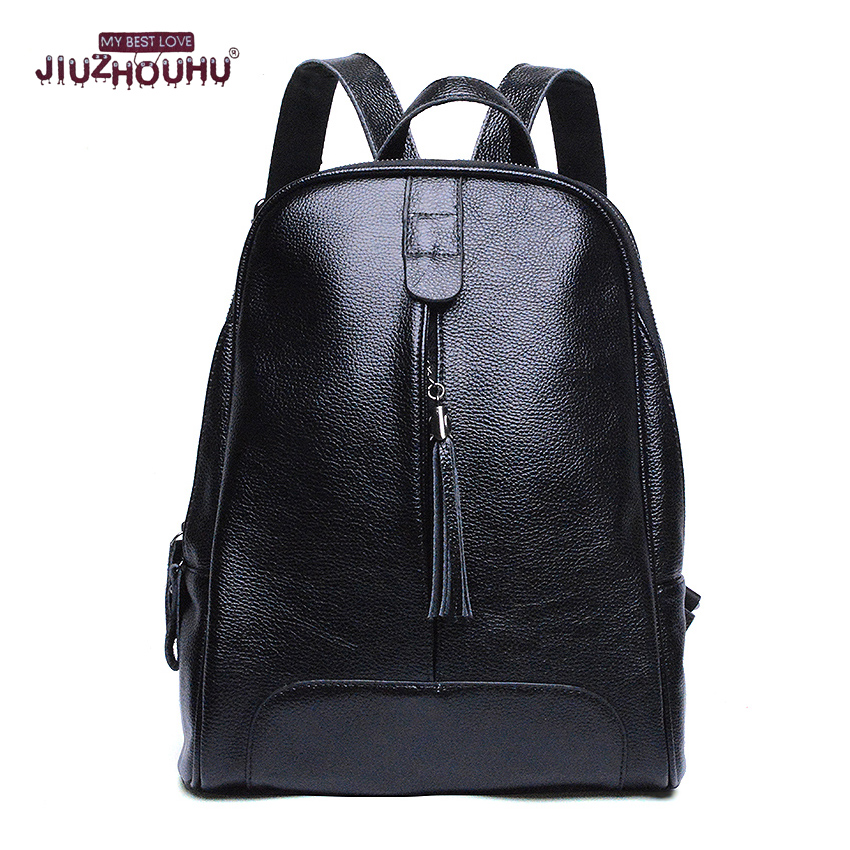 Geniune Leather Backpack Preppy Style For Girls College Female Fashion DesignTravel Backpack Woman Back Pack Daily packs Womens<br>