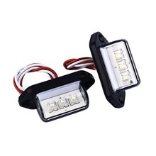 1 Pair 12V 3LED Number Licence Plate Light Rear Tail Lamp Truck Trailer Lorry Auto Lights White Car Styling