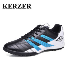 Mens Kids Football Boots 2016 Turf Soccer Cleats Black/Blue/Green Indoor Shoes Football Sneakers Men Boy Soccer Shoes Cheap