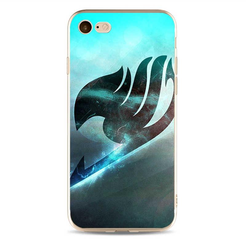 Аниме Манга сказка логотип дизайн крышка мобильного телефона чехол для iPhone 5 5C 5S SE X 6 6 S 7 7 plus 8 8 plus Мягкий чехол из ТПУ