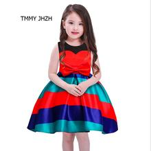 New Baby girl clothes Princess Dress Clothes Short Sleeve Bow Ball Gown Party Dress Toddler Kids Fancy Dress Girl's clothes(China)