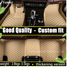 Custom fit car floor mats for Toyota Camry RAV4 Prius Prado Highlander Sienna zelas verso 3D car-styling carpet liner(China)