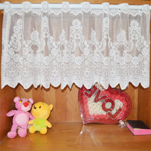Kitchen Curtains for Window Shade Curtain Euramerican Jacquard Short Warp Style Rural lace Yarn Knitting Curtain