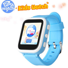 English Kids Boys Girls GPS Smart Watch Phonec SOS Anti Lost 1.44 Inch Touch Screen Call Smart Fitness for Kids Birthday Gifts