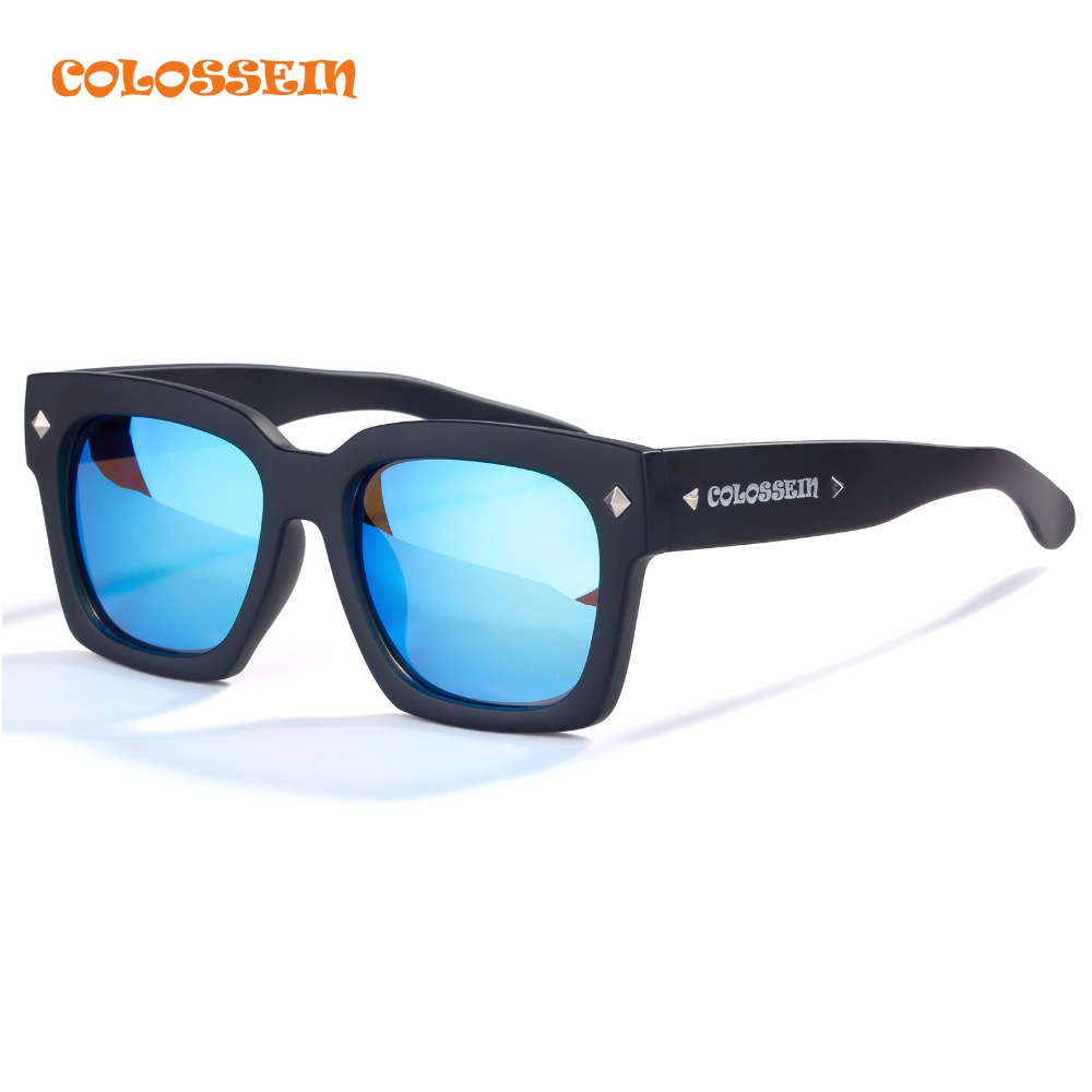 COLOSSEIN Orange Label Fashion Hot Summer Sunglasses Women Men Square Black Frame Polarized Eyewear High Quality Glasses<br><br>Aliexpress