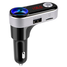 Bluetooth Car Kit Handsfree Set FM Transmitter MP3 music Player 5V 2.1A USB Smart Car charger Support Micro SD Card 8256(China)